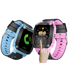 GPS Children Smart Watch GSM LBS Tracker Touch Screen Child Smart Watch with SOS Call Locator Tracker Alarm Clock Kid Wristwatch