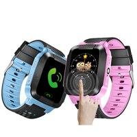 GPS Kinder Smart Watch GSM £ Touchscreen Kind Smart Uhr mit Sos-ruf Locator Tracker Wecker Kind armbanduhr