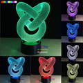 The Foreign Trade Abstract 7 color 3D LED Night Light All Colors Flash In Turn and gift to friend