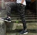 2016 nuevo Camuflaje Harem Basculador pantalones Afilan Los Pantalones Hombres Mujeres Hiphop Streetwear