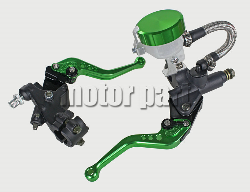 Green Color 22mm 7/8 Universal Handlebar Adjustable CNC Brake Clutch Master Cylinder Levers Fluid Oil Reservoir Set For Ducati universal motorcycle brake fluid reservoir clutch tank oil fluid cup for mt 09 grips yamaha fz1 kawasaki z1000 honda steed bone