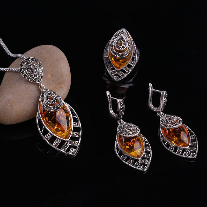 HTB16dShbsfrK1RkSnb4q6xHRFXax - Sellsets Unique Silver Color Antique Jewellery Set New Fashion Leaf Shape Vintage Jewelry Sets Women Accessories