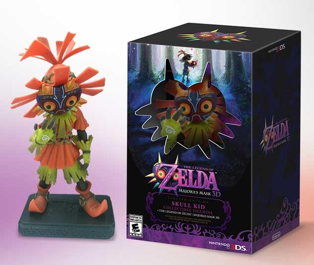 majoras mask action figure the legend of zelda action figure Zelda Majora's Mask Limited Edition w/ Skull Kid Figure*IN STORE**