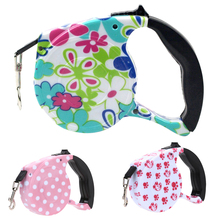 Retractable Pet Leash with Colorful Pattern