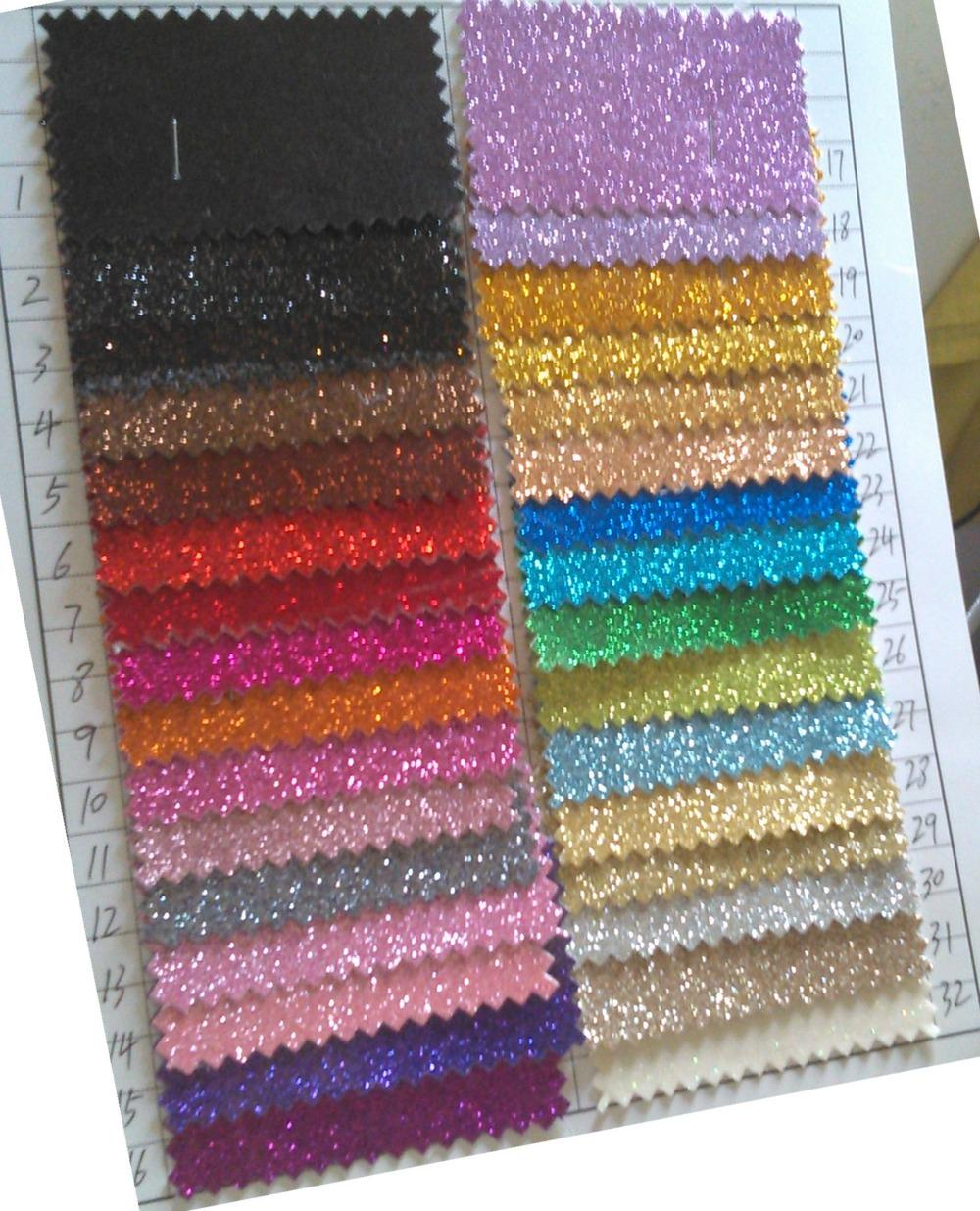 Glitter Vinyl Fabric Smooth Surface Cloth Backing Vinyl