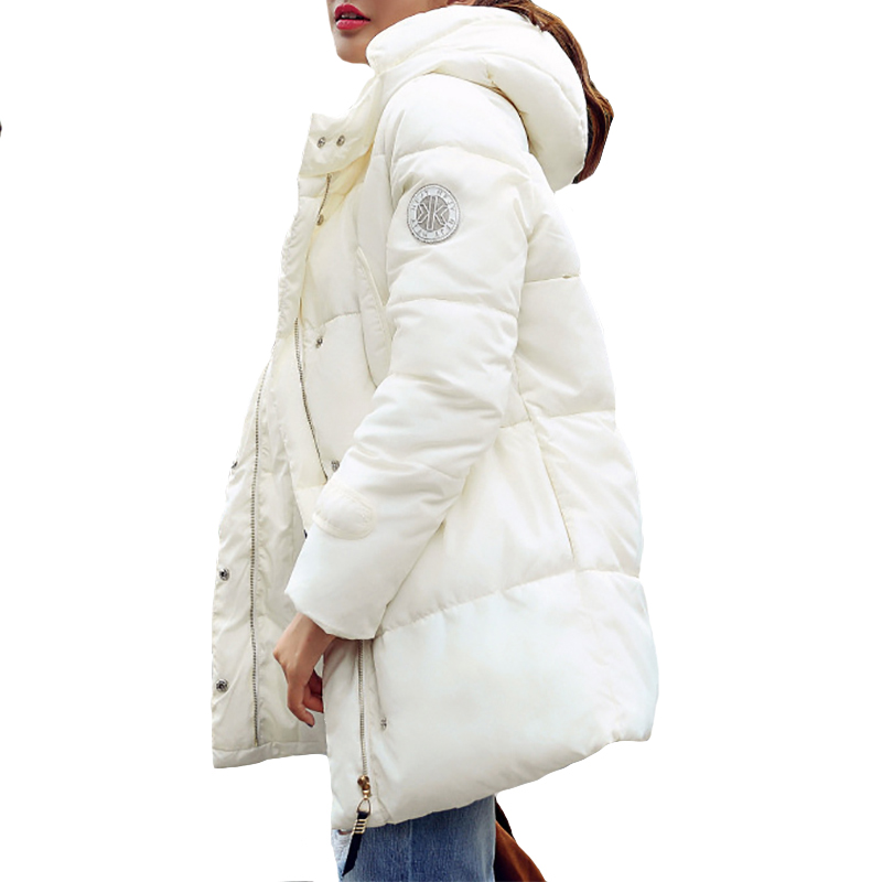 2017 Winter Women Jacket Coat Thick Women Hooded Parka Jacket Loose Long Down Jacket Warm Winter Parkas Jacket Chaqueta Mujer крем christina wish day dream cream spf12 объем 150 мл
