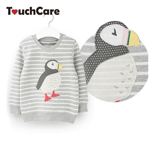 100% Cotton Long Sleeve Kids Clothes Cute Animal Girls Boys T-shirt Children's T-shirts Soft Cartoon Tops Kids Clothing Tees