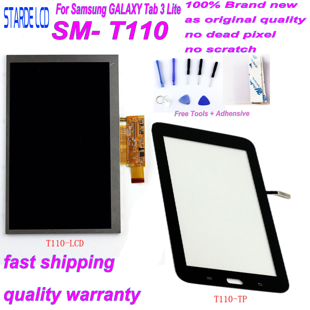 STARDE Replacement LCD For Samsung Galaxy Tab 3 Lite 7 Inch T110 SM-T110 Wifi Version LCD Display Touch Screen Digitizer Sense