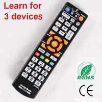 Universal Smart Fernbedienung mit lernen funktion, 3 in 1 controller arbeit für 3 geräte, TV STB DVD SAT DVB HIFI TV BOX, L336