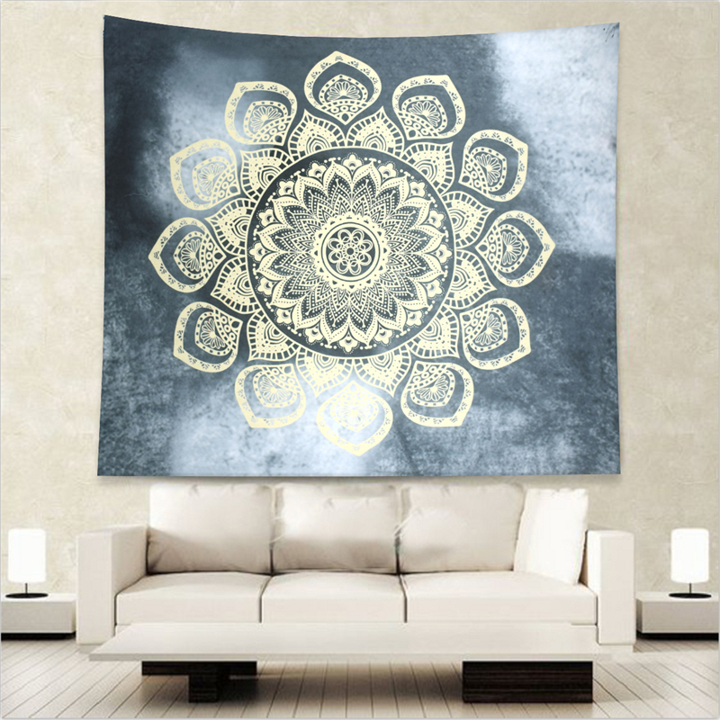 Yellow Lotus on Gray Tapestry Indian Mandala Wall Hanging Boho Beach Throw Towel Yoga Mat Table Cloth Bedding 203x153cm Size  yoga mat yellow | Yoga Flow – Yellow Mat Yoga  font b Yellow b font Lotus on Gray Tapestry Indian Mandala Wall Hanging Boho Beach