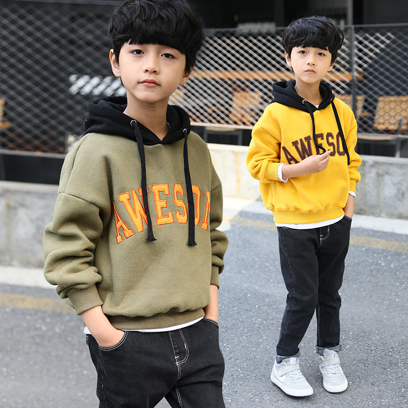 V-TREE 2017 winter warm thicken boys coat jacket hoodies outerwear teenage children hoody designer coat boy jackets kids clothes
