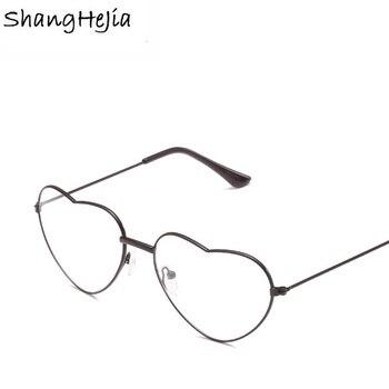 2018 Ladies Heart Shaped Woman Glasses Optical Frames Metal  LOVE Clear  Lenses eyeglasses  Glasses Reading Glasses