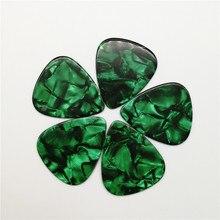 Good Selling 100pcs/lot Blank Pearloid Green  Guitar Picks Pearl Plectrum