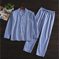 2017 Spring Brand homewear Men's Casual Pajamas sets Men turn-down collar Long sleeve shirt & pants Male Cotton sleepwear suit