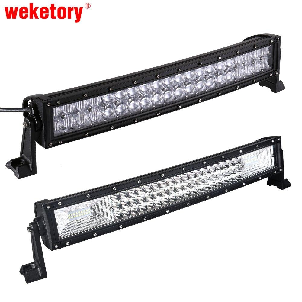 Weketory 5D 22 pollice 200 W Curvo LED Work Light Bar per Trattore barca OffRoad 4WD 4x4 Camion SUV ATV con Cablaggio Interruttore 12 V 24 v