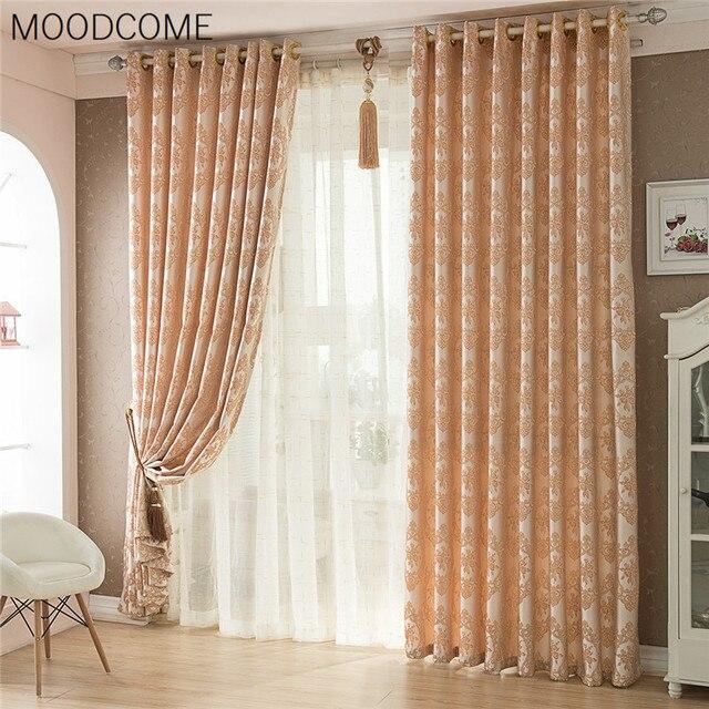 rideaux pour salon salle manger chambre rideau tissu nouveau jacquard europenne ombre termin de