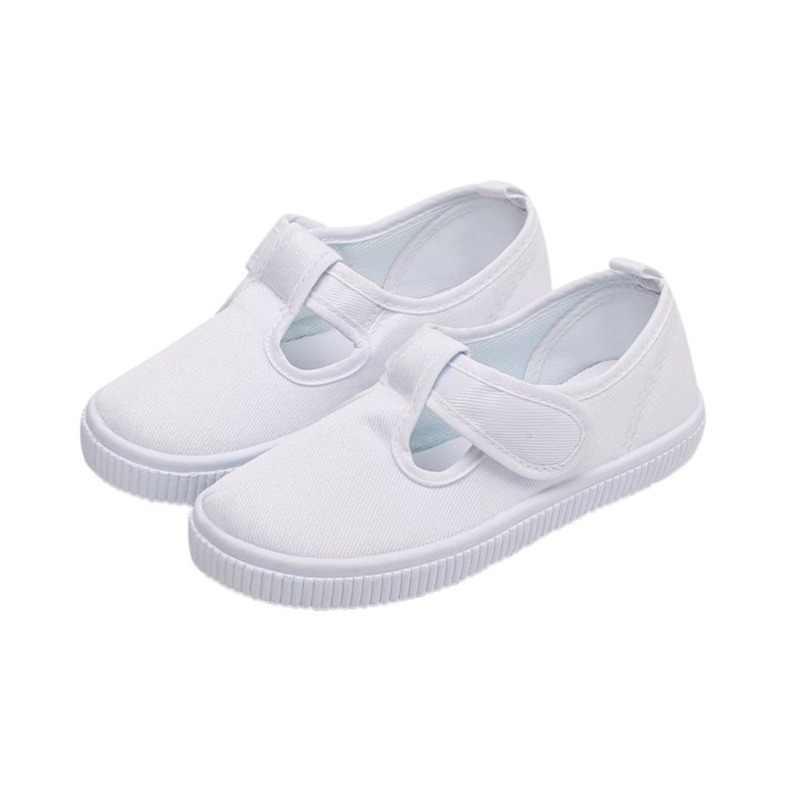 baratas para descuento 9bf45 813e7 Zapatos blancos para estudiantes, zapatos de lona para niños y niñas,  zapatos de lona para niños 2018, zapatillas deportivas de rendimiento  informal ...