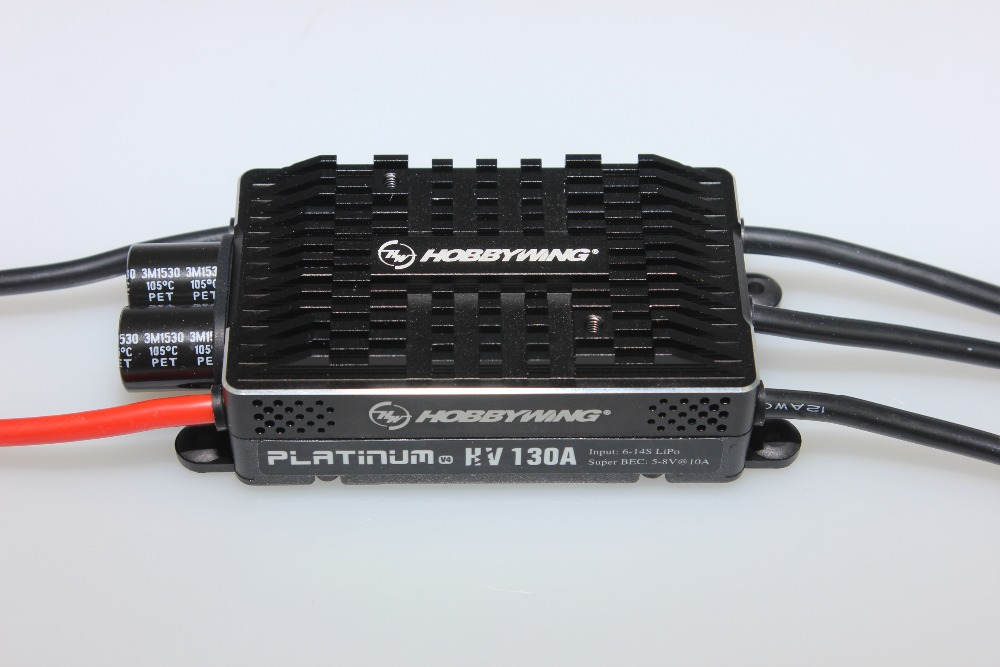 Hobbywing Platinum HV V4 130A BEC / OPTO 5-14S Lipo Empty mold Brushless ESC for RC Drone Helicopter Aircraft даниссимо продукт творожный пломбир 5 4% 130 г