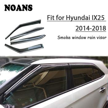 NOANS 4pcs Stickers For Hyundai IX25/Creta 2018 2017-2014 Car Styling Accessories ABS Windows Sun Rain Visor Door Shield Trim