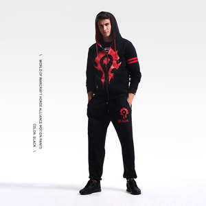 Image 3 - TEE7 Mens Sweatpants Game WOW Tribe Forever Emblem Cotton Casual Horde Cosplay Costume Male Black Printed High Quality Trouser