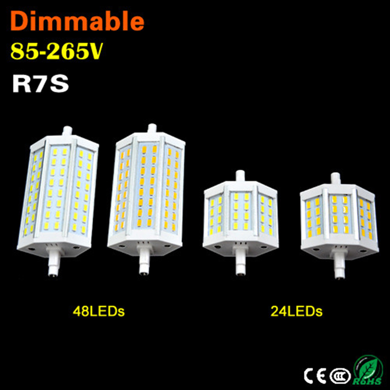 цены 1Pcs Dimmable R7S LED Light 15W 25W 24 48Leds Bulb Lamp SMD 5730 R7s 78mm 118mm Spotlight Replace Halogen Floodlight Lamp