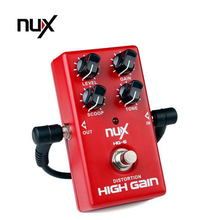 NUX HG-6 Modern High Gain Distortion Effect/Electric Guitar effect Overdrive Effect Pedal True bypass Hardware Switching nux roctary force simulator polyphonic octave stomp boxes electric guitar effect pedal fet buttered tsac true bypass
