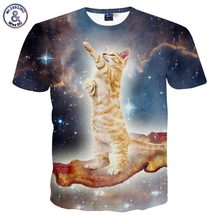 3D cat t-shirt Galaxy traveler