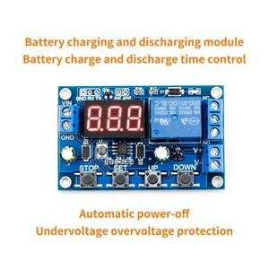 Battery Charge/Discharge Module Integrated Voltmeter Undervoltage/Overvoltage Protection Timing Charge/Discharge Communication(China)