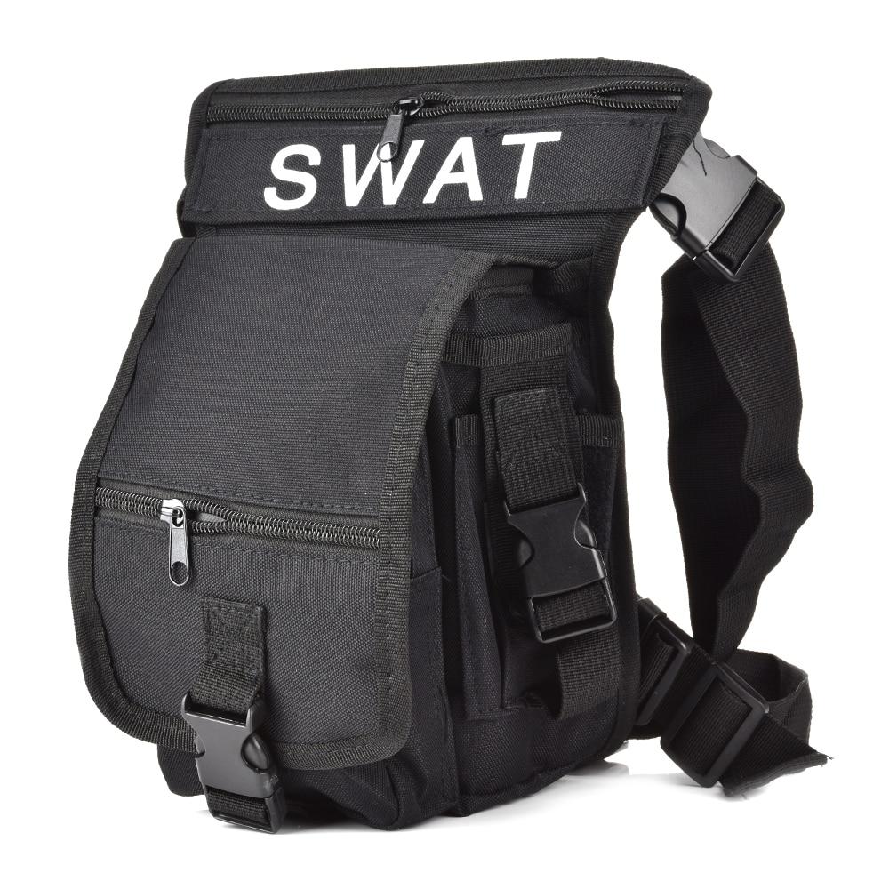2019 Multi-Function Men Canvas Leg Bag  Waterproof Sport Tactical Airsoft Military Drop Leg Thigh Bag Utility Belt Bag  Nylon