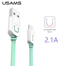 USAMS Micro USB Cable 2.1A 1m Fast Charger USB Cable for Samsung Galaxy Micro USB Date Mobile Phone Cables