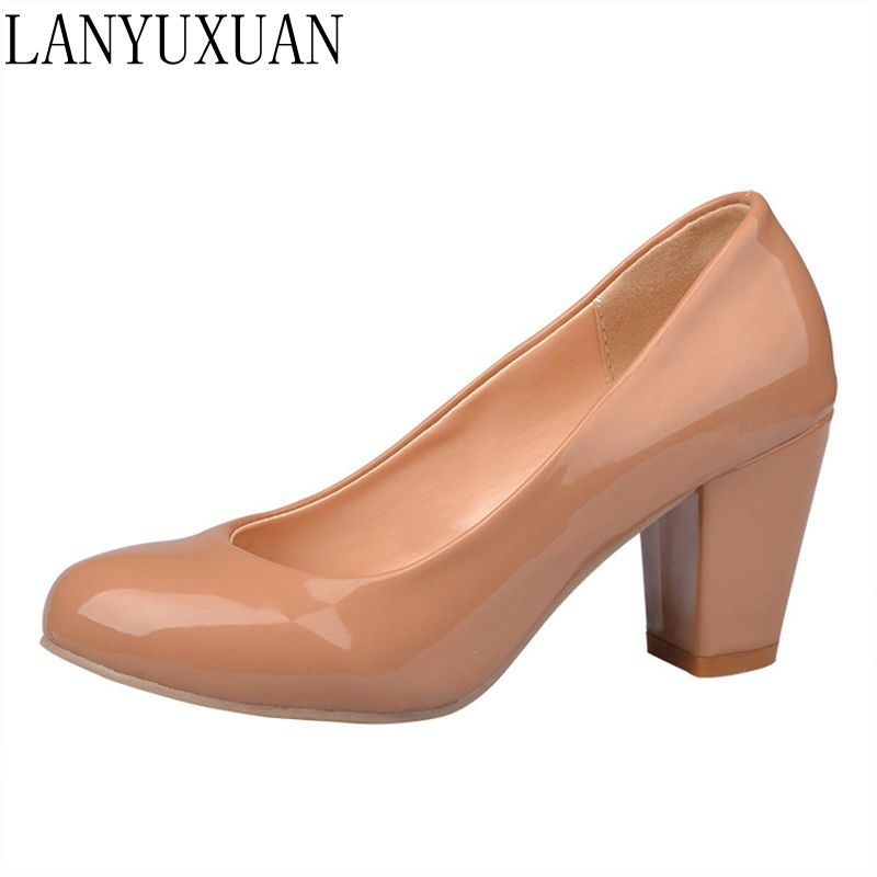 цена на Hot Sale Zapatos Mujer Tacon Big Size 34-43 4 Colour New Spring Autumn Women's Pumps Women Shoes High Heels Pu Party 222-2