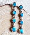 Longa das mulheres fogo azul opala jóias para presente