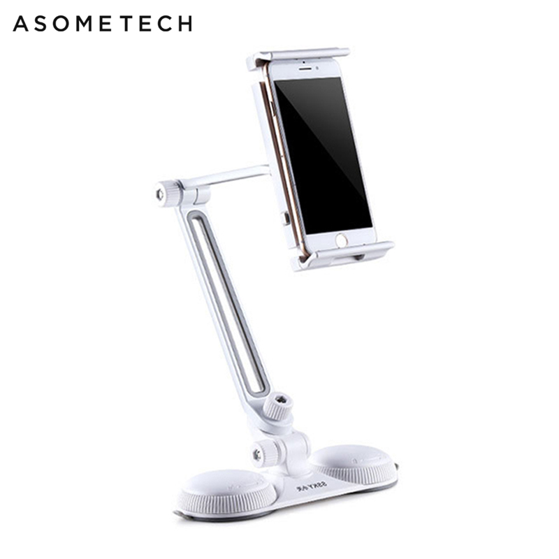 Universal Strong Sucker Tablet Phone Holder Bracket Support For IPhone IPad Samsung Xiaomi Tablet Phone Desk Wall Mount Stand