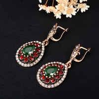 Pendientes de Clip Vintage bohemios turcos para mujer pendientes largos pendientes de Clip pendientes de Navidad joyería de moda