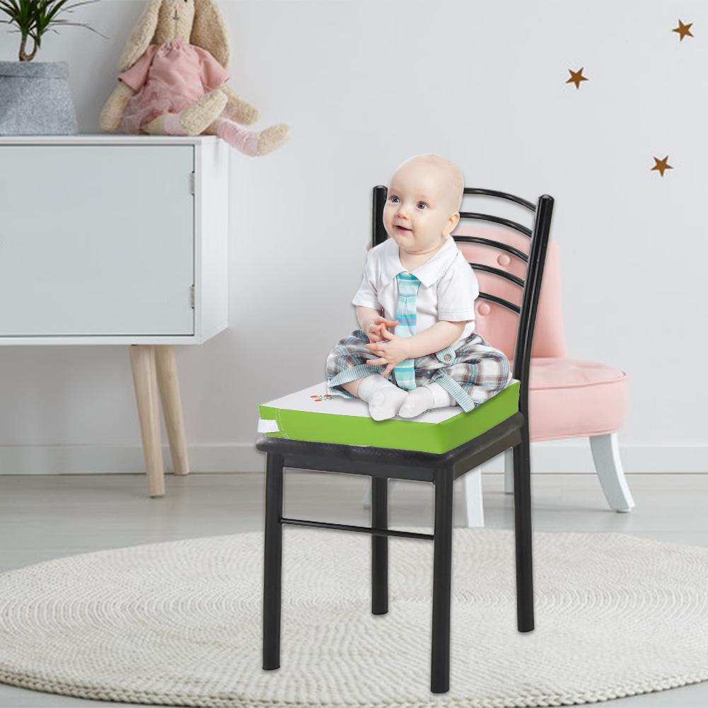 Square Booster Seat Dining Chair Washable Thick Increasing Cushion for Baby
