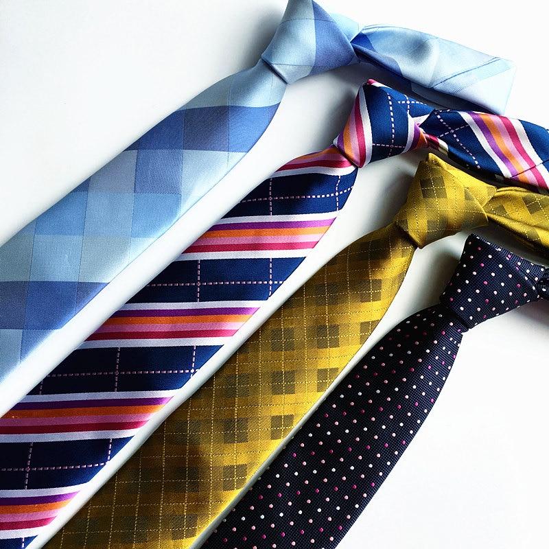 მაღალი ხარისხის 7 სმ კავშირები მამაკაცის ზოლებით კისრის ჰალსტუხი paisley neckties gravata თხელი masculina corbatas para hombre 2016 lote