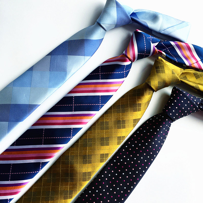 Corbatas de alta calidad de 7 cm para hombres rayas corbata paisley corbatas gravata delgado masculino corbatas para hombre 2016 lote