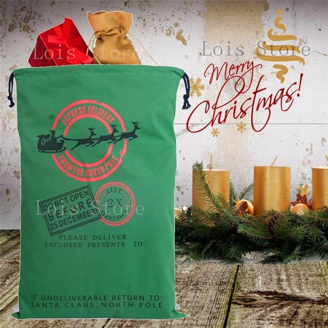 Aliexpress.com : Buy Hot Sale 1pc Santa Sacks 12 Styles Drawstring ...