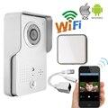 Бесплатная Доставка Открытый Беспроводной Wi-Fi IP Дверь Камеры для Android IOS Телефон Удаленный Разблокировки Видеодомофон + Крытый Звонка