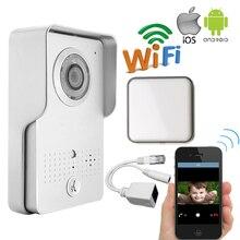 Envío Gratuito Al Aire Libre Wifi Wireless IP Cámara Timbre para Android IOS Teléfono View Remote Desbloqueo De Vídeo Portero Automático + Timbre de Interior