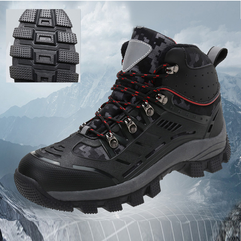 men Hiking Shoes Professional Waterproof Hiking Boots Tactical Boots Outdoor Mountain Climbing Sports Sneakers Boots for