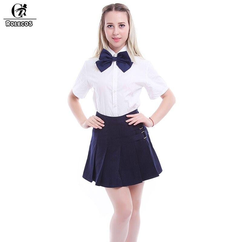 ROLECOS britannique coréen japonais uniforme scolaire unisexe vêtements d'été pour les uniformes scolaires pour les femmes Cosplay Costume uniformes