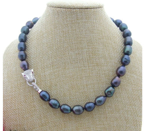 BEAUTY 18'' 11 13MM TAHITIAN BLACK GREEN SOUTH SEA PEARL STRAND NECKLACE>>>hot Sell necklace pendant Free shipping