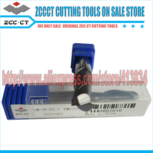 Free Shipping 20 pieces  GM-2E-D8.0 GM ZCCCT Cemented Carbide CNC 2 Flute Flattened end mill with straight shank
