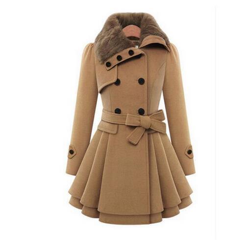 Winter Mantel Frauen Wolle & Blends Mäntel Weibliche Jacke Winter Frau Mantel Warme Windjacke Plus Größe Abrigos Mujer Invierno 2019 neue