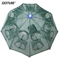 Goture Folding Fishing Net Shrimp Cage Nylon Cast Net Fishing Net Cage Carp Shrimp