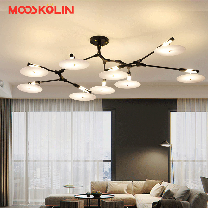 Hot Sale New Modern Italy Style Ceiling Light Northern Modern Restaurant Cafe Lamps Creative Disc Home Lighting Fixtures