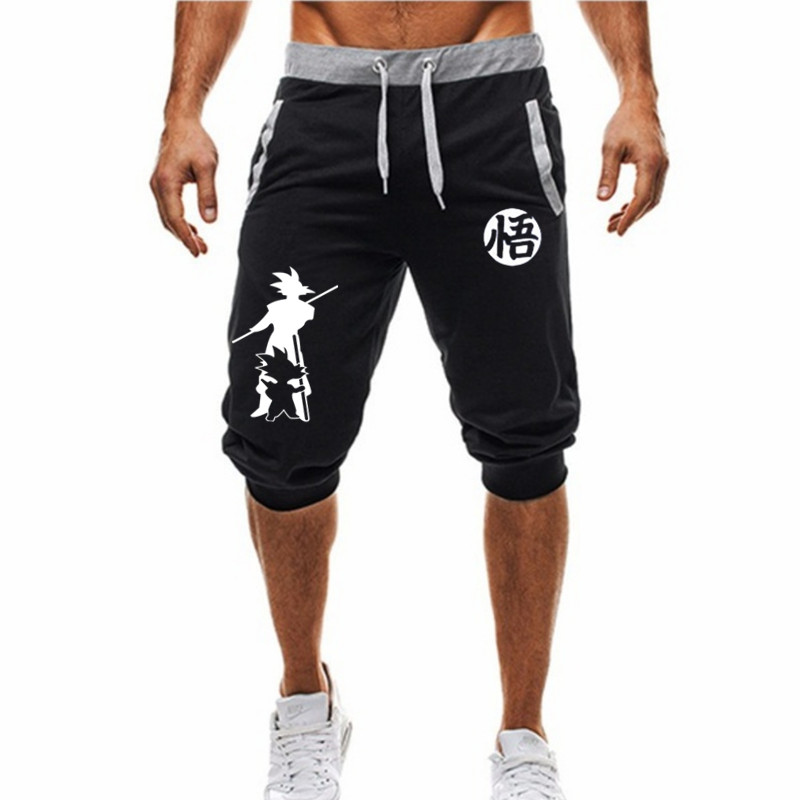 M-3XL Summer 2019 Man's Shorts Casual Shorts Fashion Dragon Ball Goku print Sweatpants Fitness Short Jogger male clothing