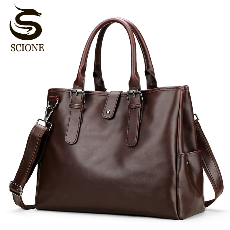 Mens Business Bag High Quality PU Leather Messenger Handbag for Men Crossbody Bags Male Travel Laptop Bag Big Shoulder Tote Bags vktery handbag men satchel pu leather male messenger crossbody bag business solid brown tote briefcase sling shoulder bags 3021