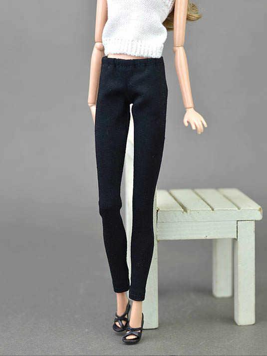 Pantalones largos para muñecas Barbie, partes inferiores elásticas, ropa de muñeca, pantalones cortos, atuendo de moda, accesorios para muñecas BJD 1/6